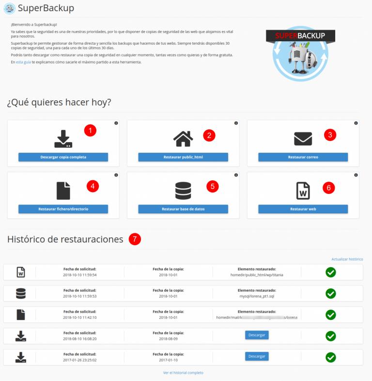 Vista de la página de acceso de SB